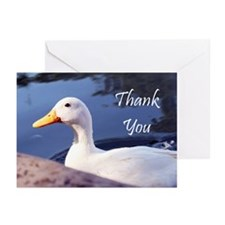 Thank You White Duck Greeting Cards