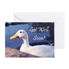 Get Well Soon Duck Greeting Cards