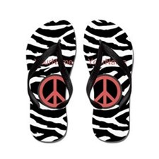 Zebra Monogram Animal Print Flip Flops