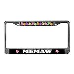 Memaw Grandma License Plate Frame