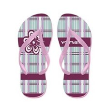 Chic Girly Flower Flip Flops