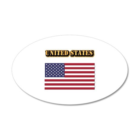 Flag of the United States Wi 35x21 Oval Wall Decal