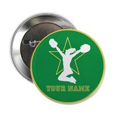 "Green Cheerleader 2.25"" Button (100 Pack)"