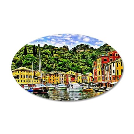 Portofino 35x21 Oval Wall Decal