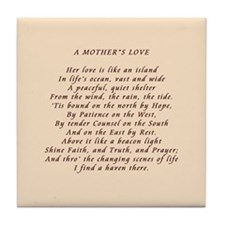 Mother's Love Tile Coaster