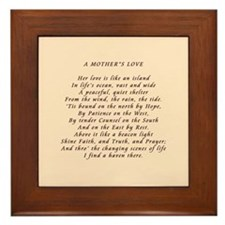 Mother's Love Framed Tile