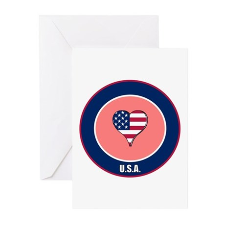 I heart USA Greeting Cards (Pk of 10)
