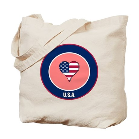 I heart USA Tote Bag