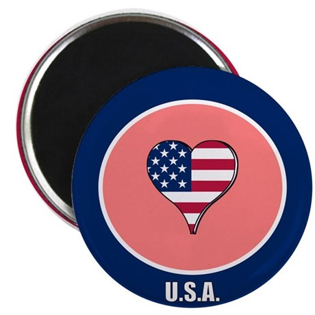 "I heart USA 2.25"" Magnet (100 pack)"