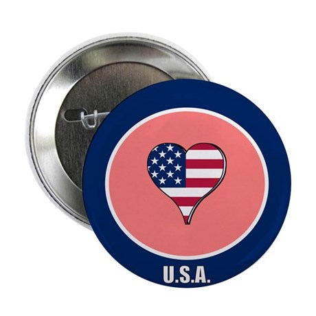 "I heart USA 2.25"" Button (10 pack)"