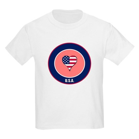 I heart USA t-shirt Kids Light T-Shirt