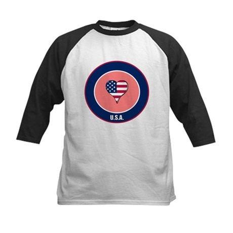 I heart USA t-shirt Kids Baseball Jersey