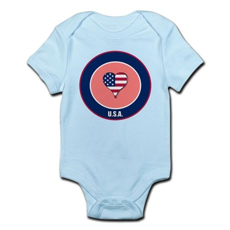 I heart USA Infant Bodysuit