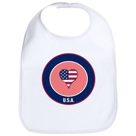 I heart USA Bib
