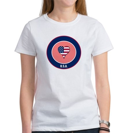 I heart USA t-shirt Women's T-Shirt