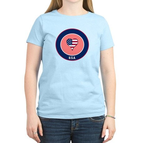 I heart USA t-shirt Women's Light T-Shirt