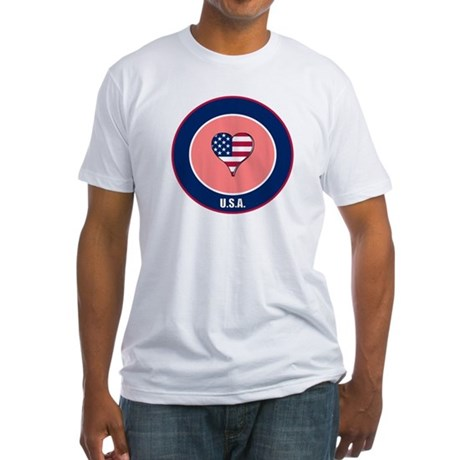 I heart USA t-shirt Fitted T-Shirt