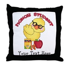 PD Honor Student Chick Throw Pillow