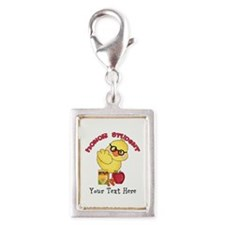 PD Honor Student Chick Silver Portrait Charm