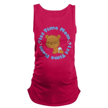 1st Time Mom baby boy Maternity Tank Top