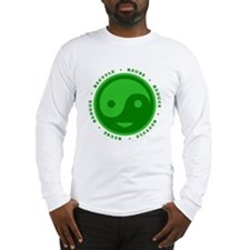 Reduce Reuse Recycle Happy Fac Long Sleeve T-Shirt
