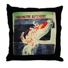 China Town Burlington Butchery  Throw Pillow