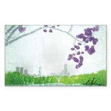 Jacaranda Skyline Stickers