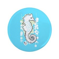 "Sea Happy 3.5"" Button"