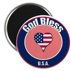 "God Bless the USA 2.25"" Magnet (100 pack)"