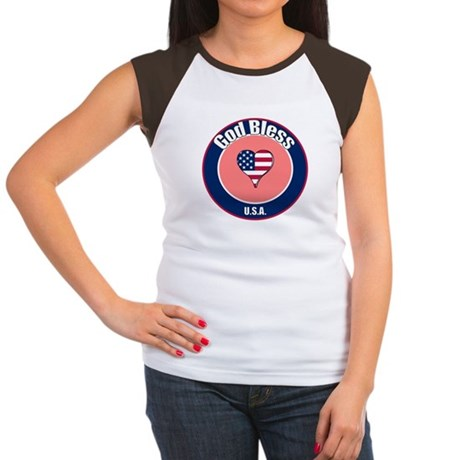 God Bless the USA t-shirt Women's Cap Sleeve T-Shi