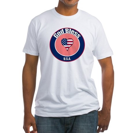 God Bless the USA t-shirt Fitted T-Shirt