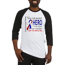 Pulmonary Fibrosis Bravest Hero I Baseball Jersey