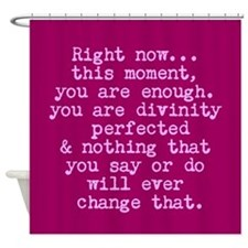 You Are Enough Shower Curtain - Berry
