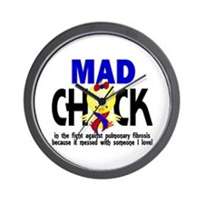Pulmonary Fibrosis Mad Chick 1 Wall Clock