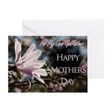 For godmother a Mothers Day card with magnolias Gr
