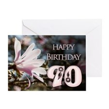 90th birthday card with magnolias Greeting Cards