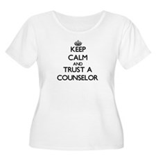 Keep Calm and Trust a Counselor Plus Size T-Shirt