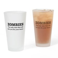 Zombies Love You, Funny Drinking Glass