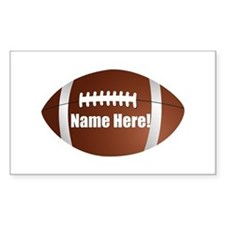 Personalized Football Decal