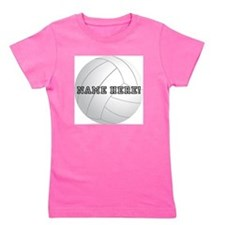 Personalized Volleyball Girl's Tee