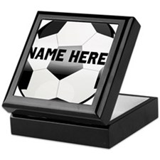 Personalized round soccer ball Keepsake Box