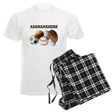 Sports Balls, Custom Name Pajamas