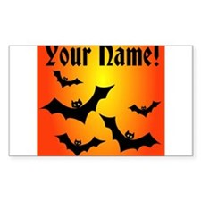 Personalized Halloween Bats Decal