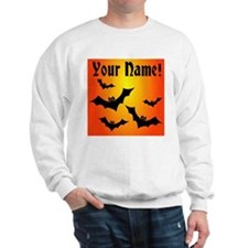 Personalized Halloween Bats Sweater