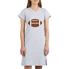 Personalized Football Ball Women's Nightshirt