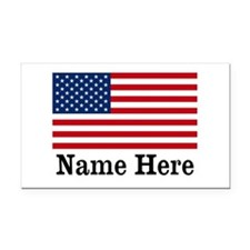Personalized American Flag Rectangle Car Magnet