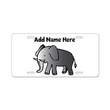 Personalized Elephant Aluminum License Plate