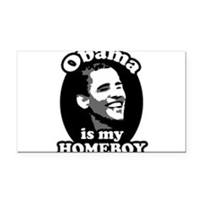 obama is my homeboy Rectangle Car Magnet