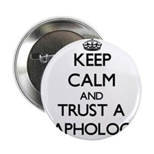 """Keep Calm and Trust a Graphologist 2.25"""" Button"""