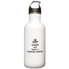 Keep Calm and Trust a Guidance Worker Water Bottle